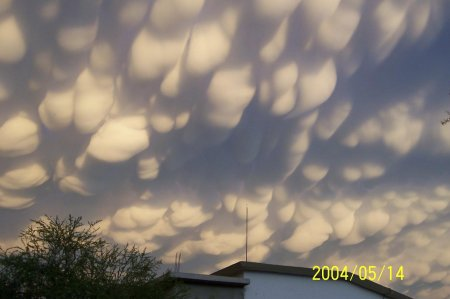 Трубчатые облака над Мексикой